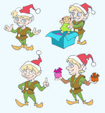 Christmas elves Stock Photography