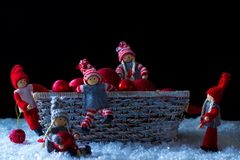 Christmas elves Royalty Free Stock Images