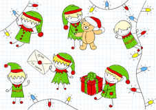 Christmas elves Stock Images