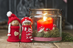 Christmas elves Stock Photos