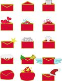 Christmas emails icon Royalty Free Stock Photo