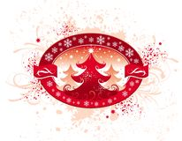 Christmas emblem Royalty Free Stock Photography