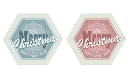 Christmas emblem set Stock Images