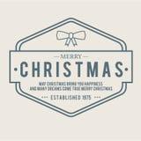 Christmas is emblem theme. Decorations elements stock photo