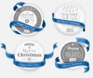 Christmas emblems Stock Image