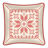 Christmas embroidered pillow Stock Images