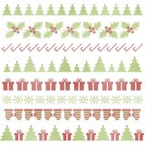Christmas embroidering elements Royalty Free Stock Images