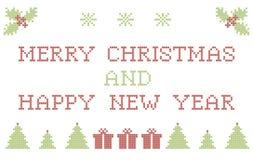 Christmas embroidering Stock Photos