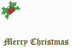 Christmas Embroidery Royalty Free Stock Images