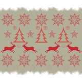 Christmas embroidery cross-stitch pattern  Stock Photos