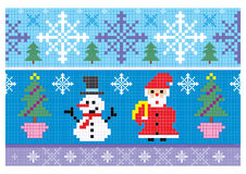 Christmas embroidery seamless background Stock Images