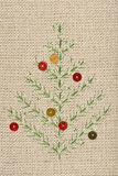 Christmas embroidery Stock Image