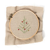 Christmas embroidery Royalty Free Stock Photos