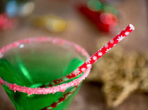 Christmas Emerald Green Cocktail Royalty Free Stock Photos