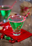 Christmas Emerald Green Cocktail Stock Images