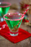 Christmas Emerald Green Cocktail Royalty Free Stock Image