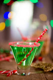 Christmas Emerald Green Cocktail Royalty Free Stock Photography