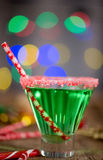 Christmas Emerald Green Cocktail Stock Photos