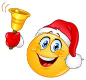 Christmas emoticon with bell Stock Images
