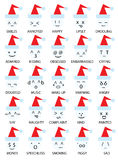 Christmas emoticons smiley Royalty Free Stock Photo