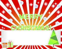 Christmas empty banner and stickers. Royalty Free Stock Photo