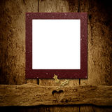 Christmas empty frame card. Copyspace. Stock Images