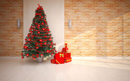 Christmas Empty interior Stock Photos