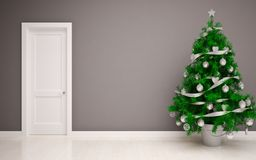 Christmas Empty interior Royalty Free Stock Photography