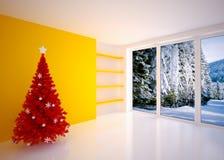 Christmas Empty interior Stock Photos