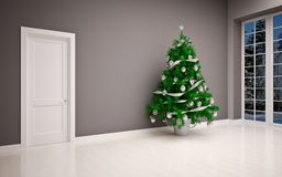 Christmas Empty interior Stock Photo