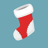 Christmas empty red socks Icon Vector Illustration in modern flat and simple style. Good for motion design. Christmas flat red Socks Icon Vector Illustration Royalty Free Stock Image