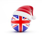Christmas in England. On a white background Royalty Free Stock Image