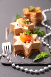 Christmas entree. With foie gras Stock Photography