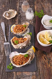 Christmas entree, oyster Royalty Free Stock Image