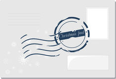 Christmas envelop with post stamp. Illustration Stock Photography