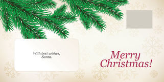 Christmas envelope Stock Images