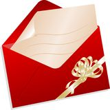 Christmas envelope Royalty Free Stock Photo