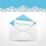 Christmas envelope Stock Image