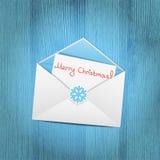 Christmas envelope Stock Photography