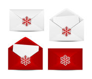Christmas envelope icons Stock Photography