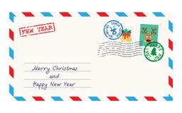 Christmas envelope for letter to Santa Claus vector illustration