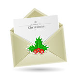 Christmas envelope Stock Photography