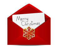Christmas envelope Stock Image