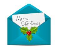 Christmas envelope Royalty Free Stock Photo
