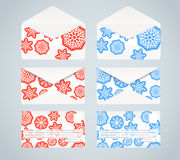 Christmas envelopes collection Royalty Free Stock Image