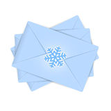 Christmas envelopes Royalty Free Stock Images