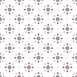 Christmas ethnic seamless pattern with geometric snowflakes  on white background. season design for print Stock Image