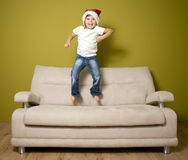 Christmas euphoria. Smiling girl waiting for Christmas Stock Image