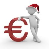 Christmas euro 2 Royalty Free Stock Image