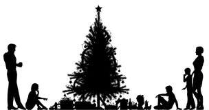 Christmas eve royalty free illustration